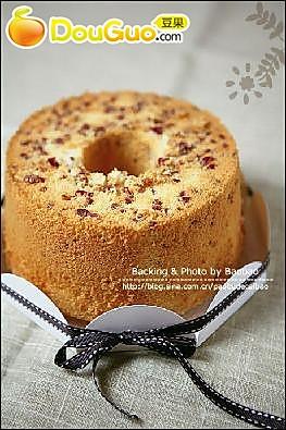 蔓越莓奶酪戚风蛋糕的做法