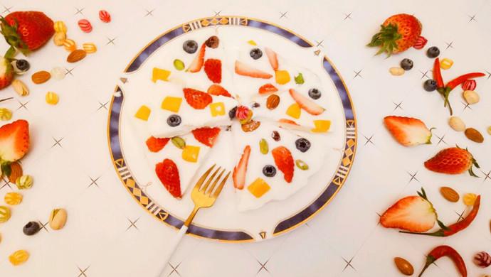 #新年开运菜,好事自然来#水果酸奶薄脆