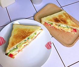 #美食视频挑战赛#三明治的做法