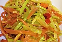 辣炒莴笋胡萝卜丝的做法