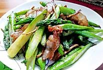 芥末芦笋炒五花肉的做法