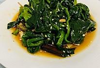 凉拌芝麻菠菜的做法