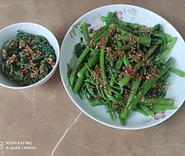蒜头油凉拌龙须菜的做法
