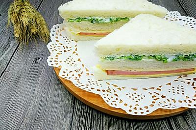 翠蔬火腿三明治