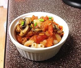 纯天然蘑菇茄汁酱【意面?盖浇饭?任你选】的做法
