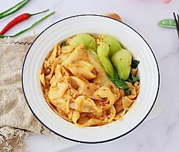 #美味烤箱菜,就等你来做!#饺子皮油泼面的做法