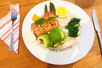 三文魚海鮮飯サーモン海鮮丼