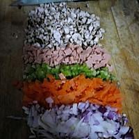 土豆米饭蔬菜饼~满满的满足感的做法图解2