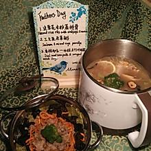虫草花米粉蒸小排——宿舍电煮锅蒸煮一锅出1