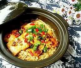 酱焖金针菇豆腐煲的做法