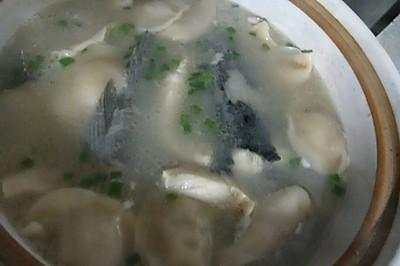 水饺黑鱼汤