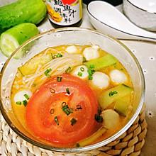 北京深秋的一碗番茄鱼丸汤