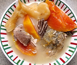 鱼尾木瓜汤的做法
