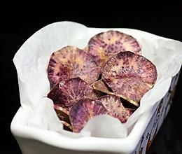 微波炉紫薯片的做法