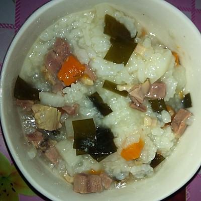 三色鸭肉粥