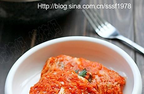 韩式辣白菜 的做法