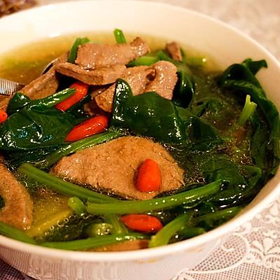 营养汤---菠菜猪肝汤