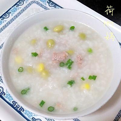 青豆玉米肉末粥