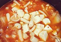泡菜菌菇豆腐汤的做法