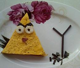 愤怒的小鸟--黄风鸟三明治的做法
