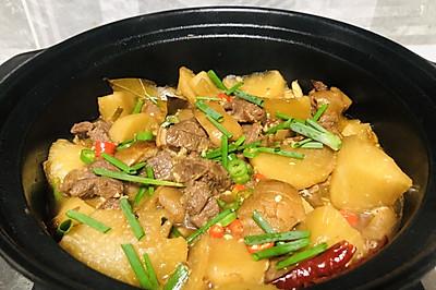 萝卜炖羊肉,暖心暖胃