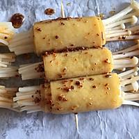 #一人一道拿手菜#烤金针菇卷的做法图解11