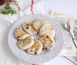平底锅就能做❗️糯唧唧❗️红豆糯米饼