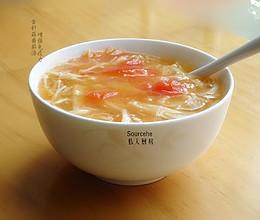 金针菇番茄汤,增强免疫力的做法