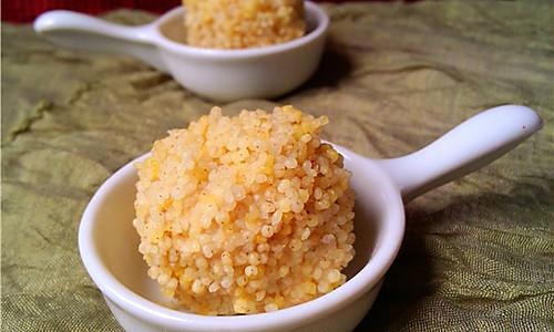 小米肉丸的做法