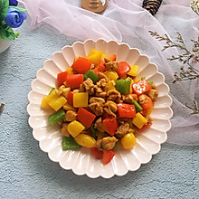 #花10分钟,做一道菜!#彩椒鸡丁