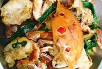 姜蒜炒花蟹的做法