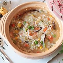 #快手又营养,我家的冬日必备菜品#冬日养生暖胃粥之蔬菜海鲜粥