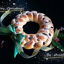 圣诞花环酸奶面包(50%中种法)