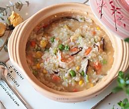 #快手又营养,我家的冬日必备菜品#冬日养生暖胃粥之蔬菜海鲜粥的做法