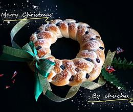 圣诞花环酸奶面包(50%中种法)的做法