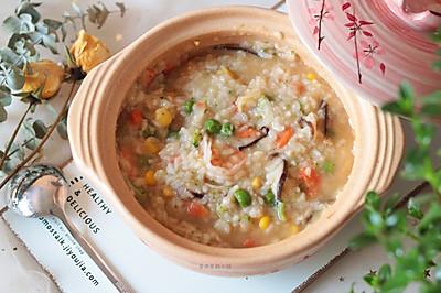 冬日养生暖胃粥之蔬菜海鲜粥