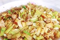 芹菜香干炒肉末的做法