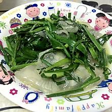 煎红薯粉炒韭菜