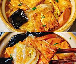 #肉食主义狂欢#无敌下饭❗️好吃到哭的白菜火腿豆腐煲的做法