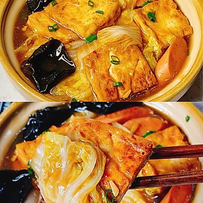 无敌下饭❗️好吃到哭的白菜火腿豆腐煲