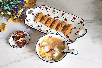 #十分钟早餐大挑战#汤圆两种吃法