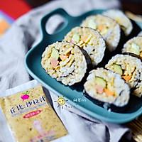 芝香寿司卷#丘比沙拉汁#的做法图解8