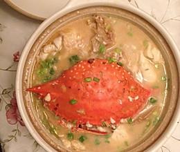 白蟹豆腐煲的做法