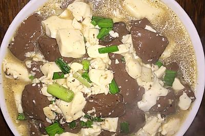 孕媽食譜^ - ^血湯豆腐
