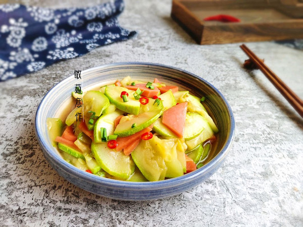 醋熘西葫芦#做道好菜,自我宠爱!#的做法