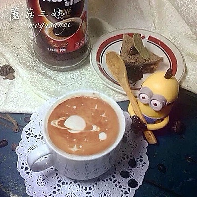 #变身咖啡大师之星空咖啡牛奶