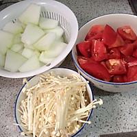 番茄金针菇冬瓜汤的做法图解1