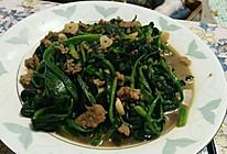 肉炒菠菜的做法
