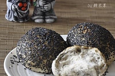 黑芝麻粉面包