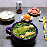 #一道菜表白豆果美食#粉条鲜肉菠菜汤的做法图解12